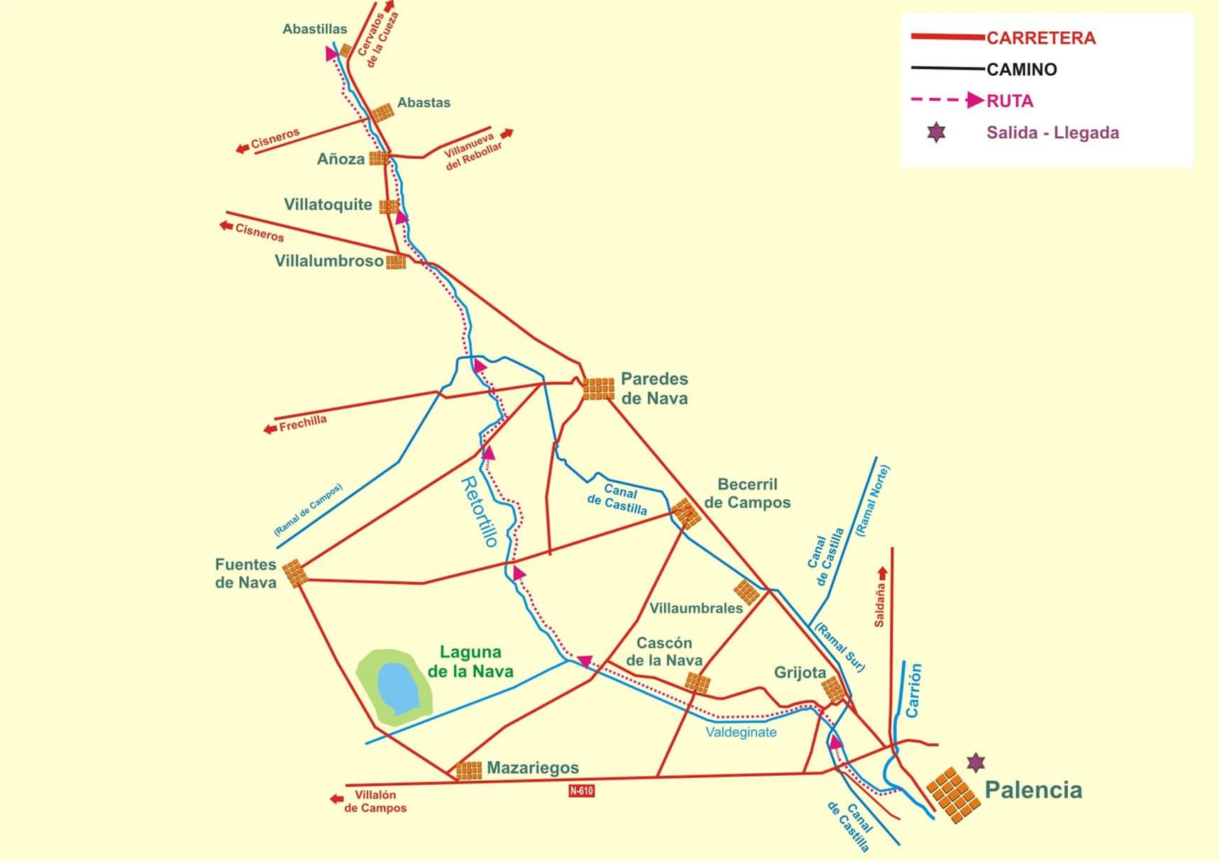 Ruta, canal de castilla - Orígenes de Europa