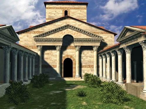 Peristilo de la Basílica - Orígenes de Europa