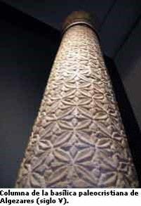 Columna de la Basílica paleocristiana de Algezares (siglo V) - Orígenes de Europa