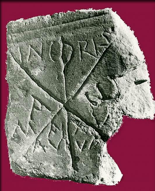 Lápida paleocristiana de la mecrópolis de Ampurias - Orígenes de Europa