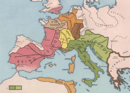 Mapa - Orígenes de Europa