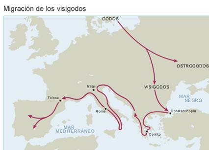 Migración de los visigodos - Orígenes de Europa