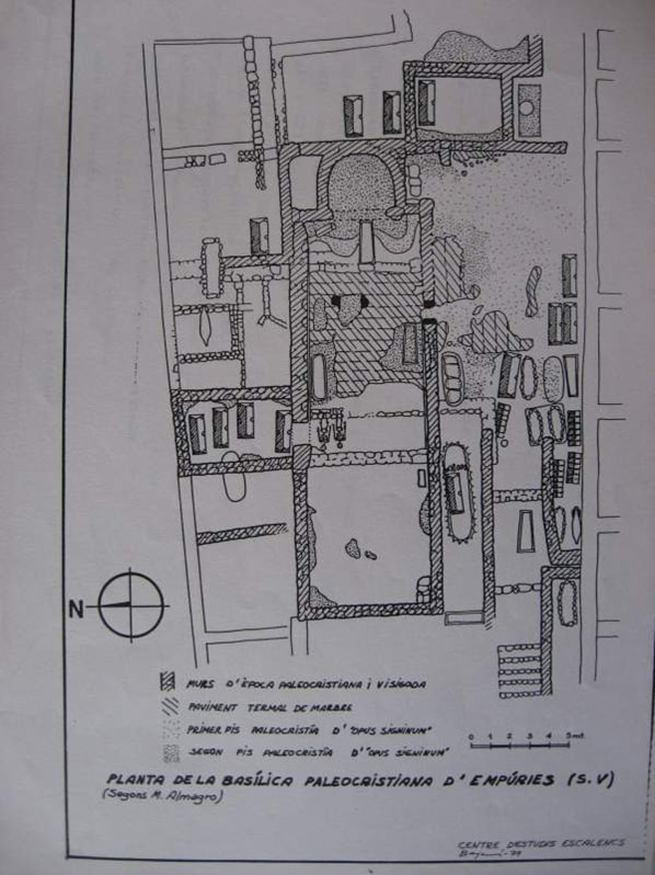 Planta de la Basílica de Ampurias - Orígenes de Europa