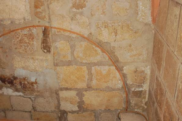 Ángulo noroeste del interior del aula donde se observaba la línea dibujada - Orígenes de Europa