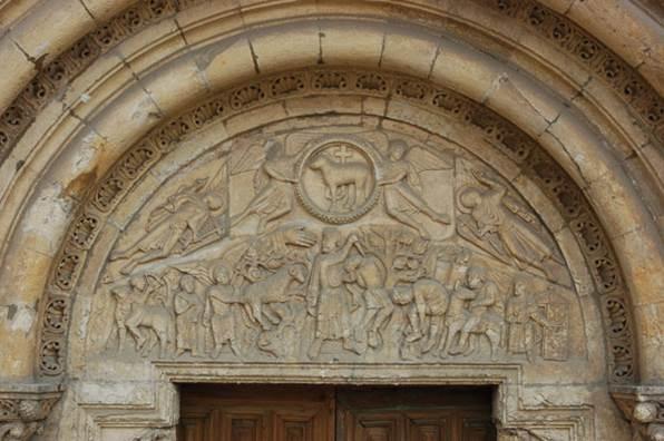 Puerta del Cordero, en la fachhda de S de San Isidoro - Orígenes de Europa