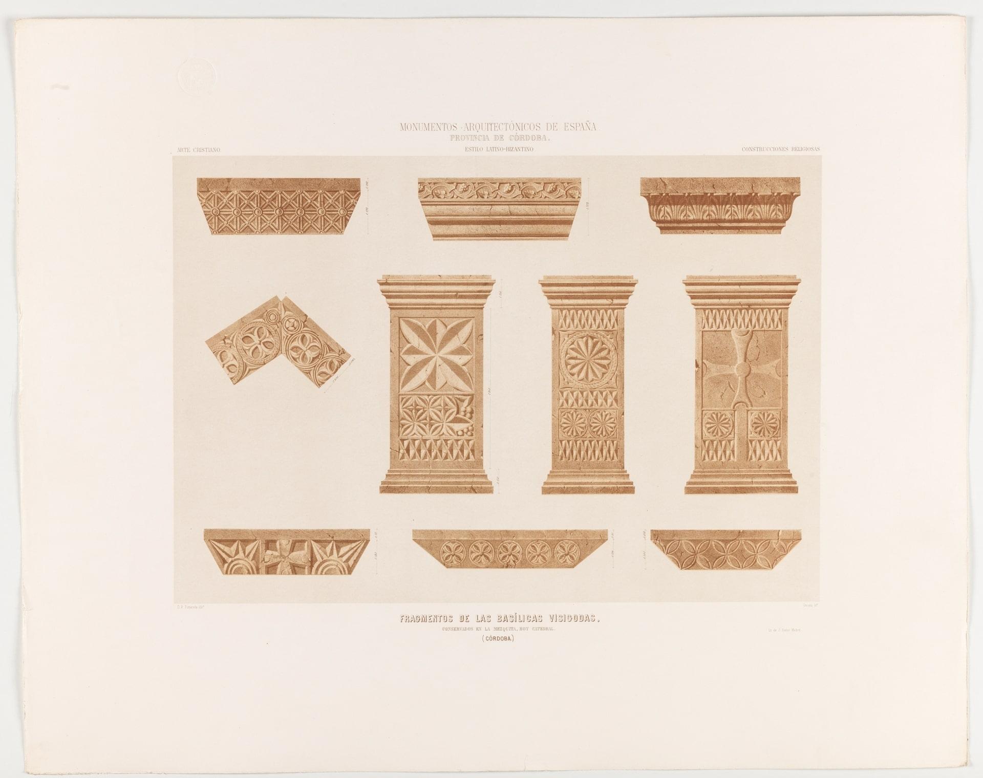 Fragmentos de las basílicas visigodas conservados en la Mezquita de Córdoba - Orígenes de Europa