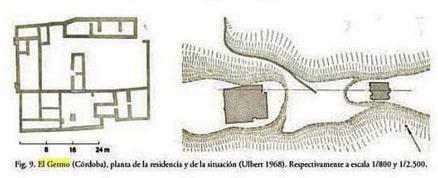 Planta y ubicación del posible monasterio por Ulbert - Orígenes Europa