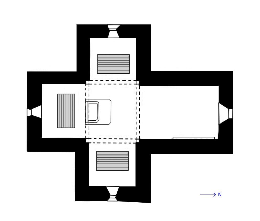 Planta del Edificio del Mausoleo Gala Placidia - Orígenes de Europa