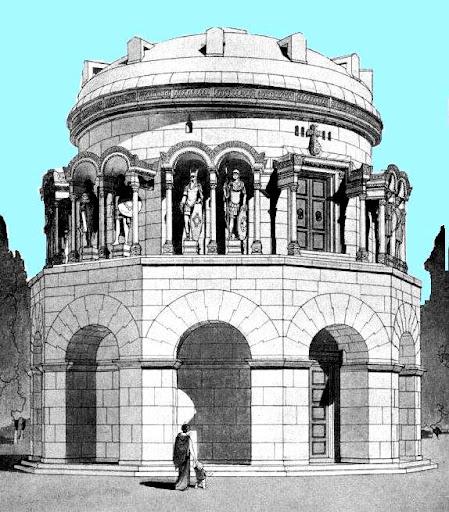 Reconstrucción de Mausoleo Teodorico - Orígenes de Europa